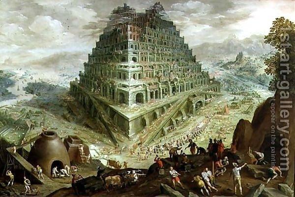 """""""Строительство Вавилонской башни"""". Мартин ван Валкенборх. 1594"""