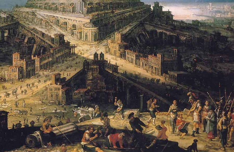 """Вавилонская башня"". Хендрик ван Клеве III."