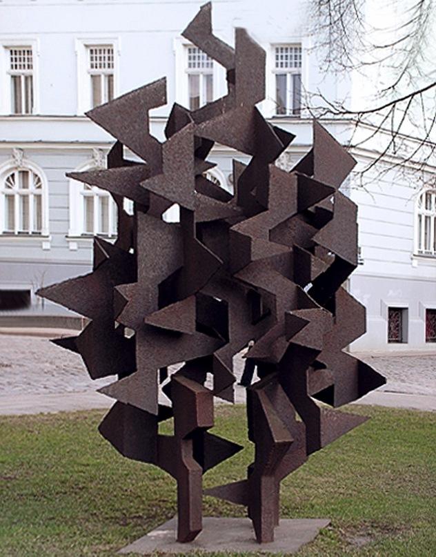 декоративная металлическая скульптура