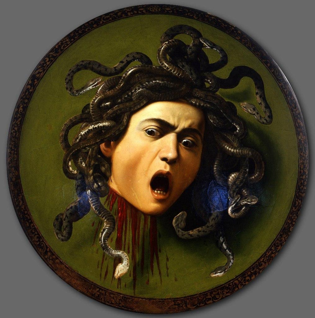 Караваджо. «Медуза Горгона». 1599. Галерея Уффици, Флоренция.