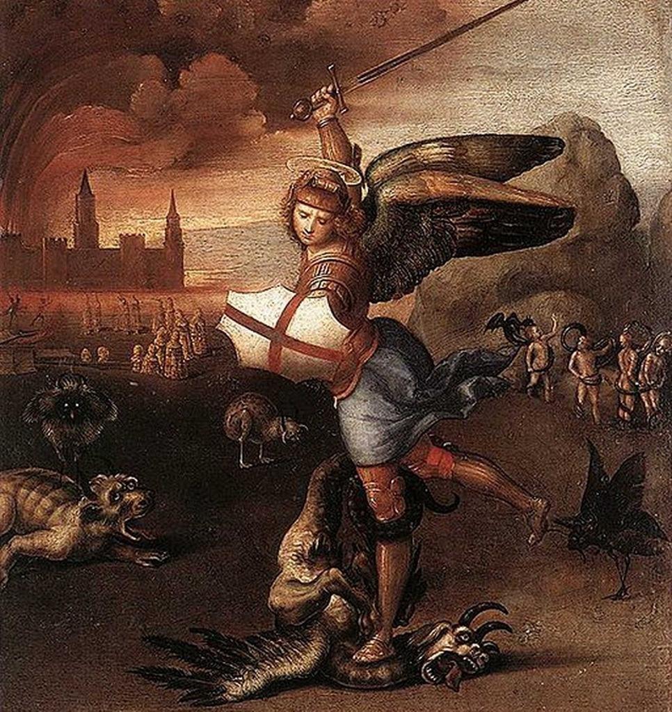 Архангел Михаил, побеждающий дракона