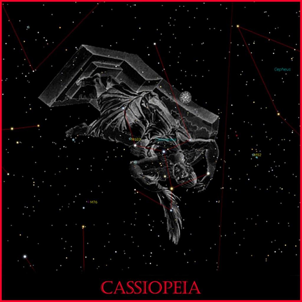 Кассиопе́я — незаходящее созвездие Северного полушария неба